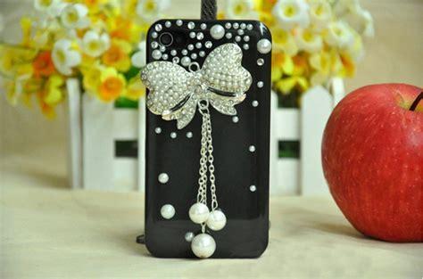 Handmade Iphone 4 Cases - newyorkscene pearl rhinestone bowknot