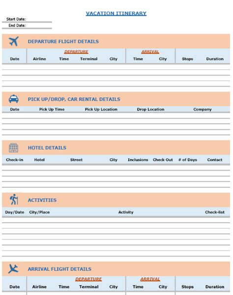 event itinerary template 5 free word documents download free