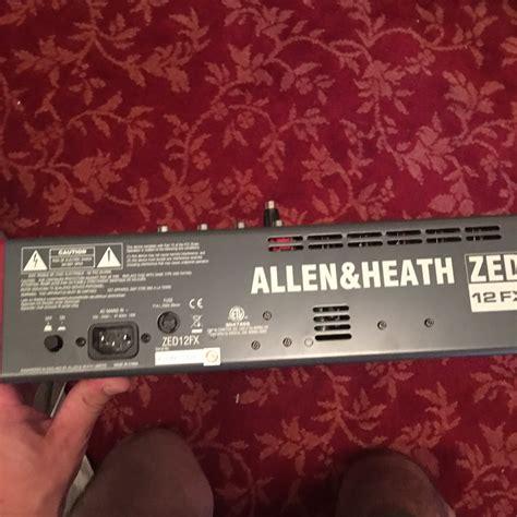 Mixer Allen Heath Zed 12fx allen heath zed 12fx image 1987800 audiofanzine