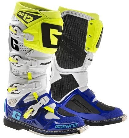 Gaerne Sg 11 White Yellow gaerne the boot co mx offroad sg 122174 050 white