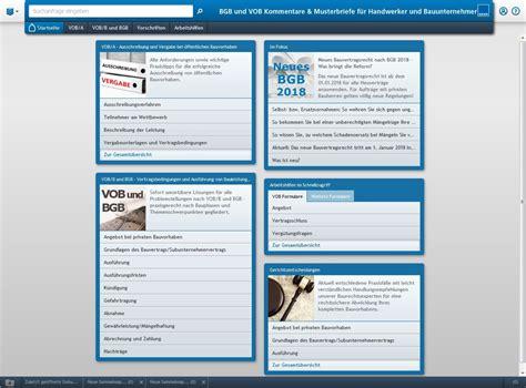 Musterbriefe Vob Bgb Und Vob Kommentare Musterbriefe F 252 R Handwerker Und Bauunternehmer