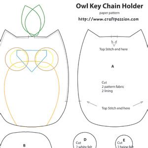 owl templates for sewing owl key pouch free sewing pattern craft