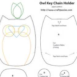 owl templates for sewing owl key pouch free sewing pattern craft patterns free