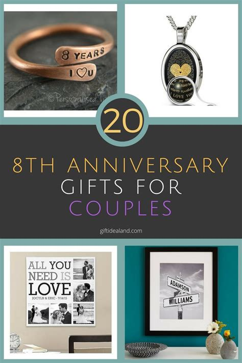 8 Gifts For by 20 8th Wedding Anniversary Gift Ideas For Couples