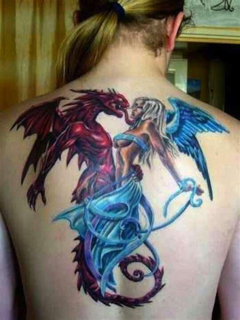 tattoo alas de angel y demonio tatuajes de 225 ngeles y demonios fotos de los tatuajes