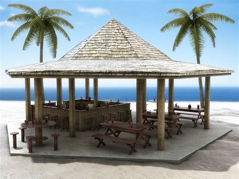 ocean house beach bar all 3dmodels com sharing 3d models flawlessy through all marketplaces