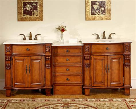 84 bathroom vanities and cabinets 84 quot creamy marble stone countertop bathroom double vanity