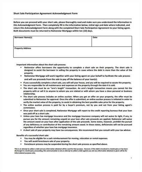 participation agreement template 29 sle sales agreement form