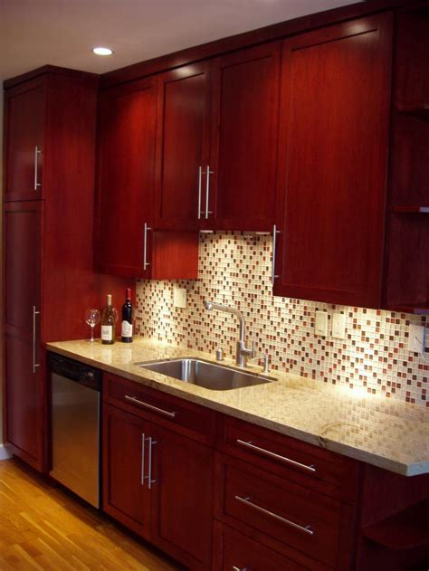 kitchen backsplash cherry cabinets brighter kitchen paint colors with cherry cabinets