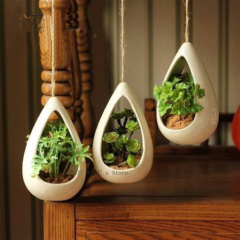 exquisite home decoration ceramic hanging pots fashion