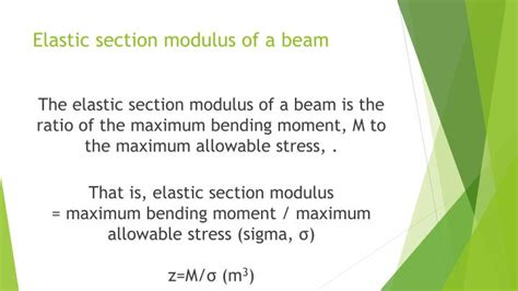 section modulus of a beam ppt load on beams powerpoint presentation id 7521713