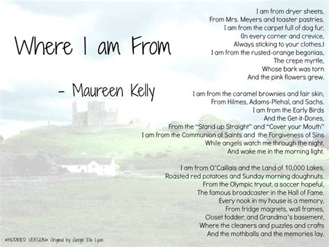 where i am from poem template pin by socia on poetry