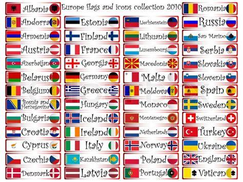 speaking countries and their flags europa fahnen und symbole komplette kollektion vor wei 223 em
