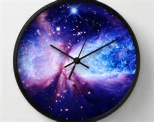 Galaxy Clock Blue Clock On Etsy A Global Handmade And Vintage Marketplace