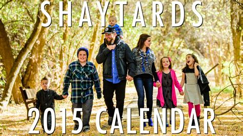 shaycarl the official home of shaycarl and the shaytards 2015 shaytards calendar vidshaker