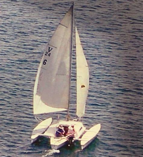 trimaran under sail piver nugget still sailing strong small trimarans