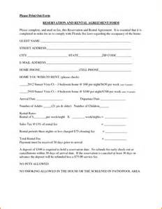 Car Rental Agreement South Africa 10 Rental Contract Forms Letter Template Word