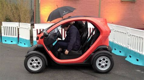 driving a renault on the test driving the renault twizy vehicles
