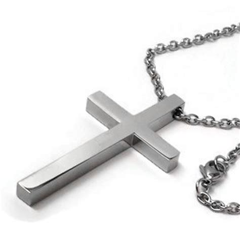 Kalung Stanless Steel Cross For simple large cross necklace for stainless steel jewelry