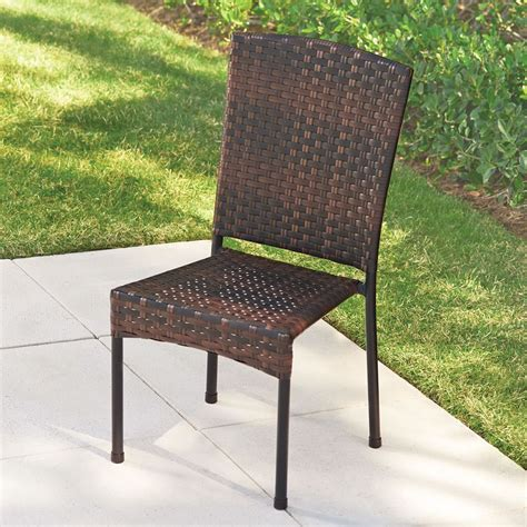 Stackable Wicker Chairs by The Stackable Wicker Chairs Hammacher Schlemmer