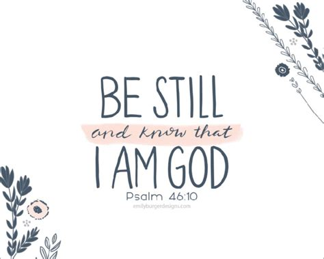 be still and know that i am god flowers hand lettering 8