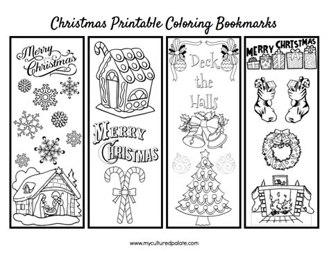 christmas bookmarks  color cultured palate