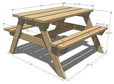 picnic bench dimensions kids picnic table my hubby s next project i love that