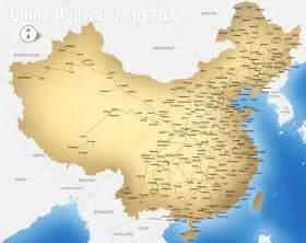 Chinas Map by China Railway Map Rail Map Of China Printable China