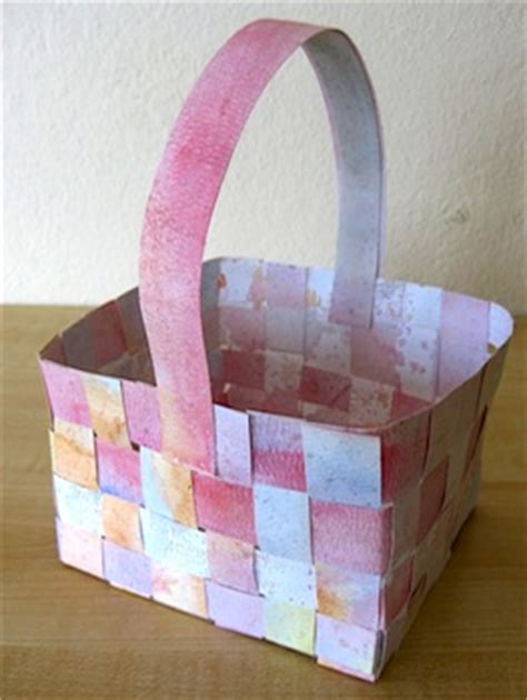 How To Make A Paper Basket Weave - happy may day