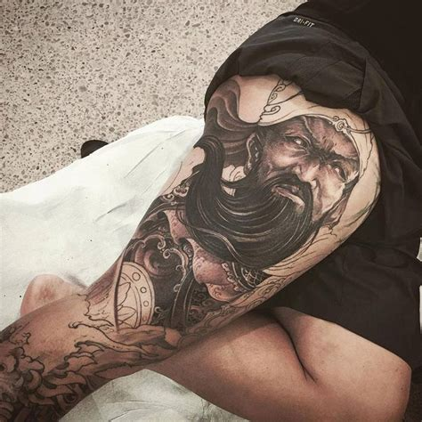 guan yu tattoo chronic ink toronto guan yu leg sleeve