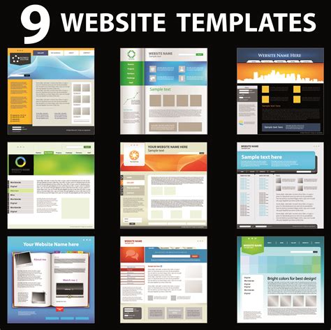 free homepage template 15 vector web design templates images header design
