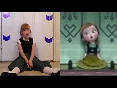 frozen film real life do you want to build a snowman frozen cover little anna