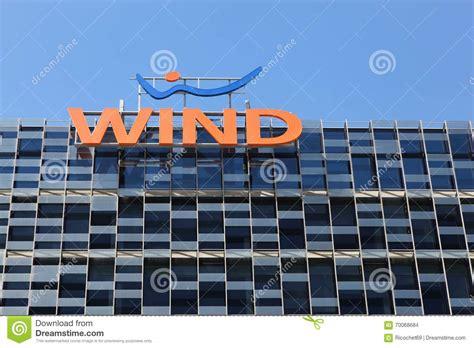 italian mobile operators wind bulding in italy editorial stock image