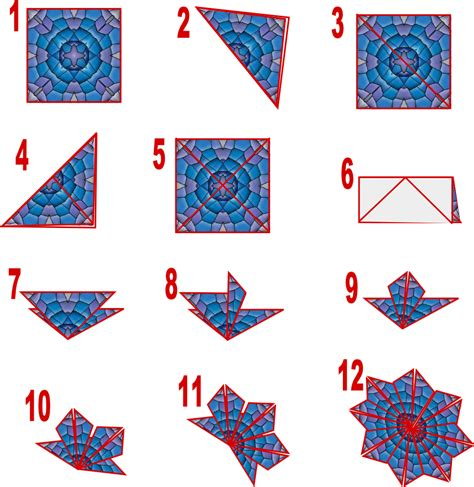 printable tile instructions susan bluerobot tea bag folding card blue plus make the