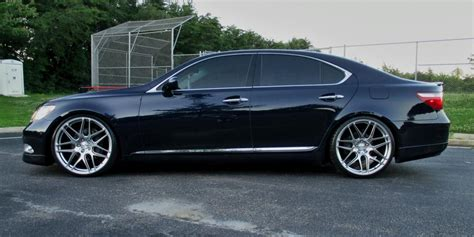 burgundy lexus with black rims va 22 inch staggered ace alloy mesh 7 wheels and tires