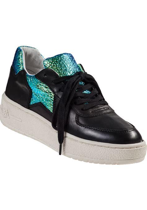 Wedges Platform Simple Tosca Levite ash fool platform sneaker black leather in black lyst