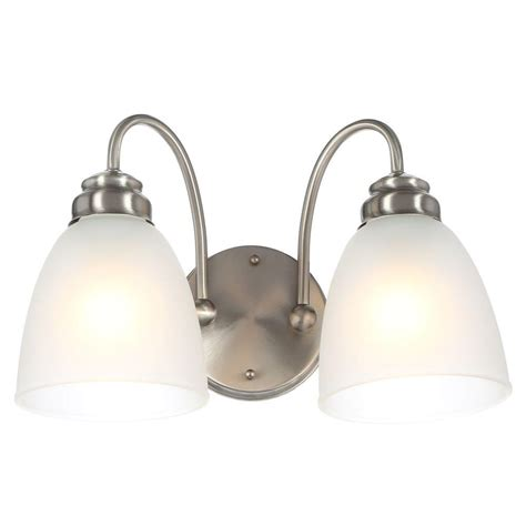 Home Depot Vanity Lights by Commercial Electric 2 Light Rubbed Bronze Vanity Light
