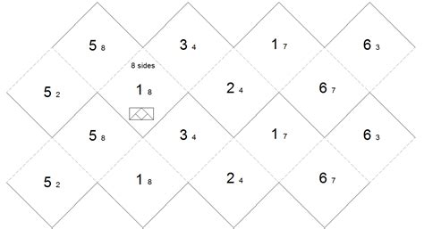printable 8 sided dice template 8 sided dice template bing images