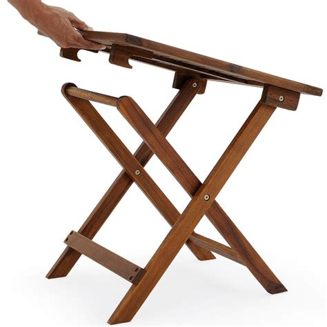 wooden folding side table wooden folding coffee table side table 4250525300628