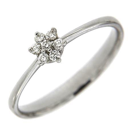 anello a fiore con diamanti anello fiore con diamanti ct 0 11 italiana gioielli