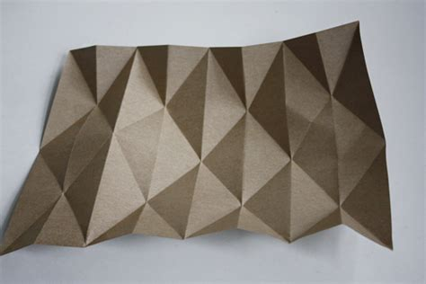 Folded Paper L - diy origami lshade design and paper