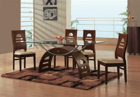 runde schwenk stühle für wohnzimmer glastisch esszimmer idee