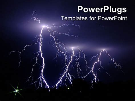 Powerpoint Templates Lightning Free | powerpoint template dark stormy night lightning strikes