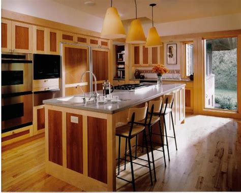 Mobile Island For Kitchen kitchen with two tone wood cabinets and center island flickr