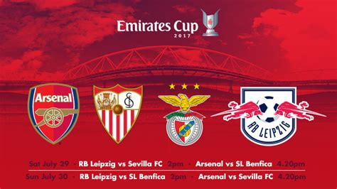 emirates cup emirates cup 2017 line up confirmed news arsenal com