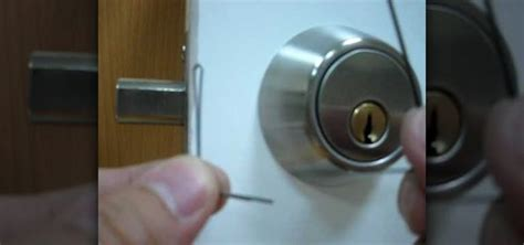 How To Open Locked Door Knob by How To A Deadbolt Door Lock With Bobby Pins Quickly