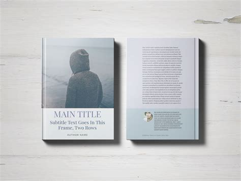 book jacket template indesign free book cover template
