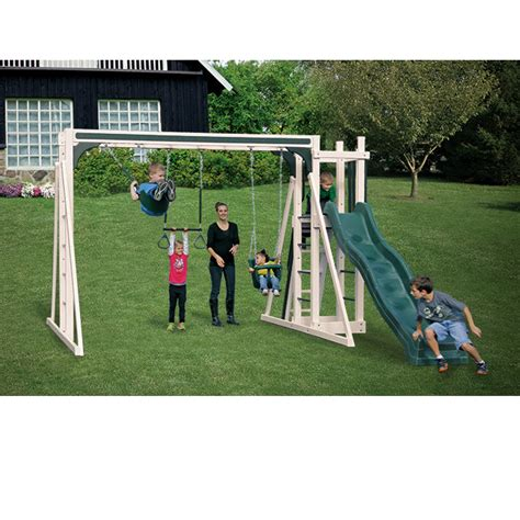 swing kingdom swing kingdom vinyl swing sets and outdoor playsets at