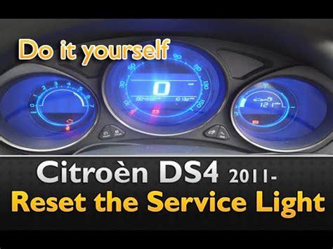 reset l200 service light citroen ds4 service light reset youtube