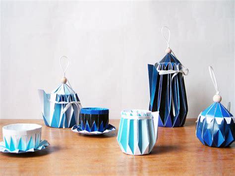 Origami Tea - 実際に使用可能な折り紙製ティーセット paper tea set gigazine